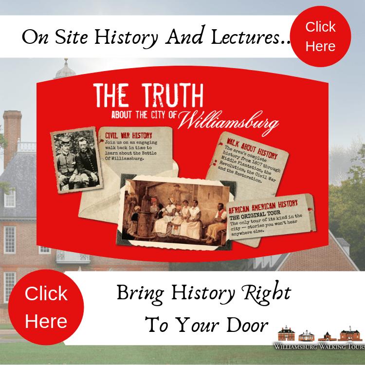 on site williamburg history tours