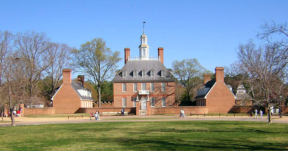 Exterior of the Governor's Palace in Williamsburg Virginia